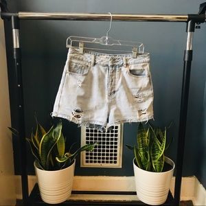 Brandy Melville Light-wash Denim Shorts